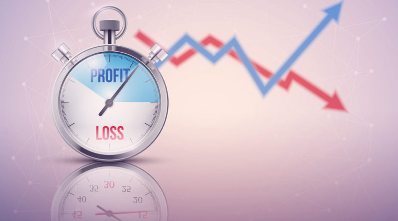 How does a Forex trader calculate profits and losses?