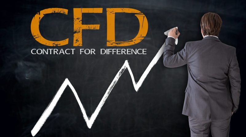 A man standing in front of a black board with CFD written on it